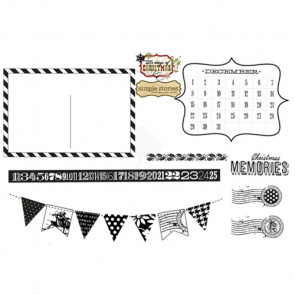 Unity Stamp Simple Stories Unmounted Rubber Stamp Kit