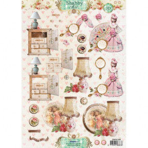 Studio Light A4 Klippeark - Shabby Chic 3D