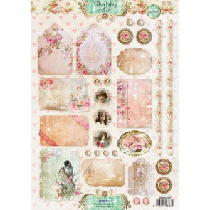 Studio Light A4 Klippeark - Shabby Chic