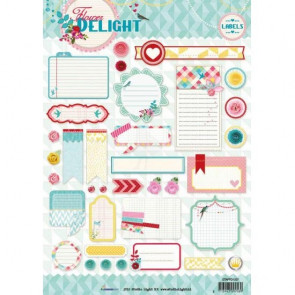 Studio Light A4 Klippeark - Flower Delight Labels