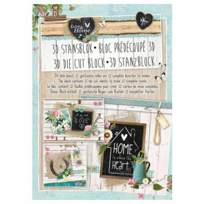 Studiolight Udstandset Blok - Love & Home
