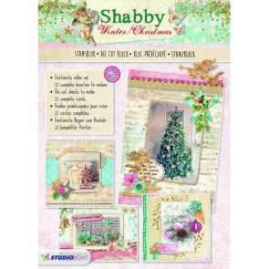 Studiolight Udstandset Blok - Shabby Winter/Christmas