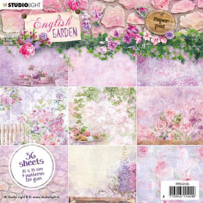 "StudioLight 6x6"" Paperpad English Garden #135 TASTER"