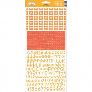 Teensy Type Cardstock Alphabet Stickers - Tangerine