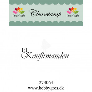 Dixi Craft Stempel - Text Til Konfirmanden