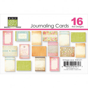 """Bazill Vintage Lace Journaling Cards 4x6"""""""