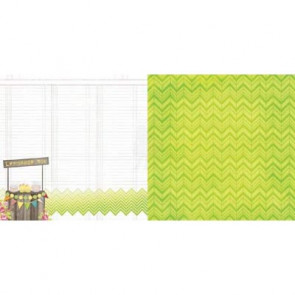 "BoBunny Lemonade Stand Double-Sided Cardstock 12x12"" - Lemonade Stand"
