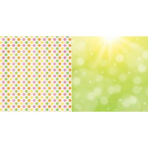 "BoBunny Lemonade Stand Double-Sided Cardstock 12x12"" - Squeeze Me"