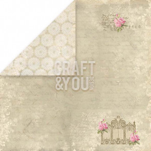 "Craft & You Design Wedding Garden Dobbeltsidet Cardstock 12x12"" Paper - 01"