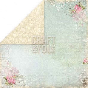 "Craft & You Design Wedding Garden Dobbeltsidet Cardstock 12x12"" Paper - 04"