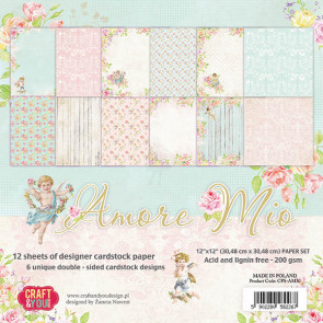 "Craft & You 12x12"" Amore Mio Paper Set"