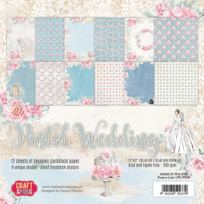 "Craft & You Design Dobbeltsidet Paper Pad 12x12"" Pastel Wedding"