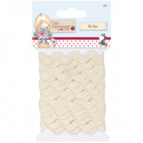 Docrafts Tilly Daydream Ric Rac Trim 8mm - Natural