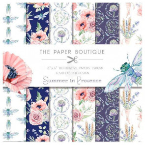 "The Paper Boutique 6x6"" Paperpad Summer In Provence TASTER"