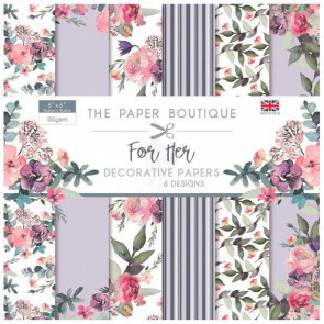 "The Paper Boutique 6x6"" Paperpad For Her TASTER"