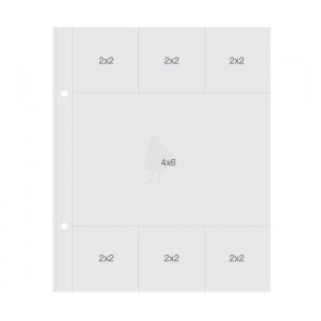 "Simple Stories Sn@p! Insta Pocket Pages For 6x8"" Binders - (6) 2x2"" & (1) 4x6"" Pockets 1 stk"