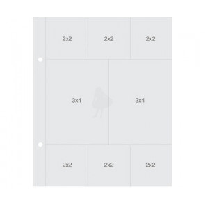 "Simple Stories Sn@p! Insta Pocket Pages For 6x8"" Binders - (6) 2x2"" & (2) 3x4"" Pockets 1 stk"