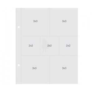"Simple Stories Sn@p! Insta Pocket Pages For 6x8"" Binders - (3) 2x2"" & (4) 3x3"" Pockets 1 stk"