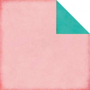 "Echo Park Sweet Girl Dobbelsidet Cardstock 12x12"" - Light Pink/Teal"