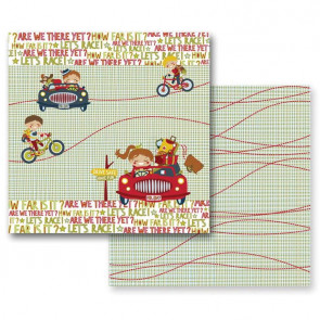 "Prima Marketing Road Trip 12x12"" Dobbeltsidet Cardstock - Road trip"