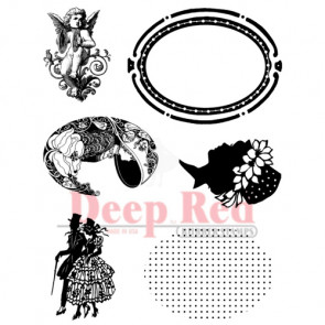 Deep Red Cling Stamp Set - Create A Cameo