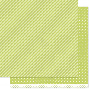"Lawn Fawn Let's Polka In The Meadow Double-Side Cardstock 12x12"" - Grasshopper Line Dance"