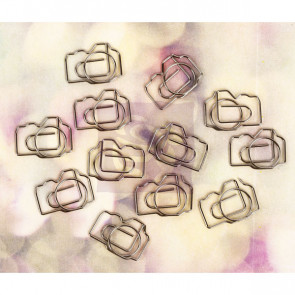 Prima Marketing Hello Pastel Shaped Metal Paper Clips Cameras 1 STK