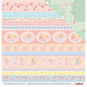 "ScrapBerry's Sweet Moments Double-Sided Cardstock 12x12"" Storytime"