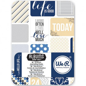 "WRMK Journal Cards 3x4"" Pad - Hello Life"