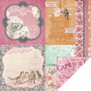 "BoBunny Madeleine Double-Sided Cardstock 12x12"" - Grace"