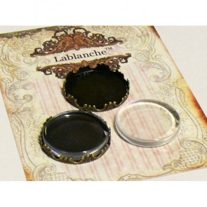 LaBlanche Cabochons with Metal Frames - Flat