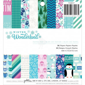 "Pebbles Paper Pad 6""X6"" 36/Pkg Winter Wonderland"