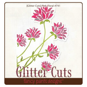 Fancy Pants Glitter Cut - Pink Floral