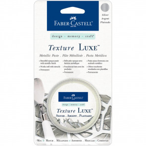 Faber Castell Texture Luxe Metallic Paste 30ml - Silver