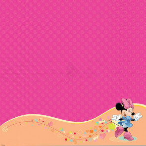 "Disney Speciality Paper 12x12"" - Minnie Mouse Glitter Thermography"