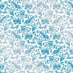 "Kanban Crystal Collection Glittered Acetate 12x12"" - Ornate Flourish Blue"