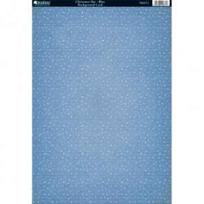 Kanban A4 Background Card - Christmas Sky Blue
