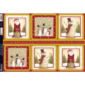 Kanban A4 Paper Craft Toppers - Christmas Friends