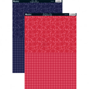 Kanban A4 Background Card - Navy Duo & Red Berry Duo 2-pack
