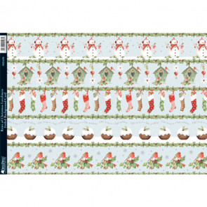 Kanban A4 Foiled Background Card - Rows Of Christmas Loveliness