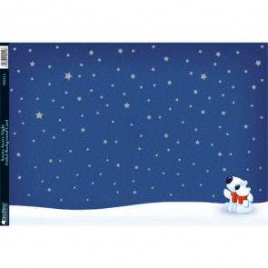 Kanban A4 Foiled Background Card - Snowy Stars Night