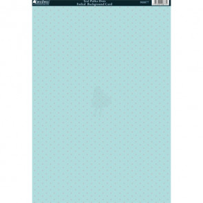 Kanban A4 Foiled Background Card - Teal Polka Dots