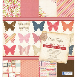 "Grace Taylor 12x12"" Printed Paper Pad - Millie's Garden"