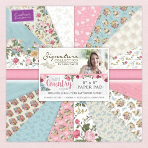 "Crafter's Companion Signature Collection Paper Pad 6x6"" - English Country Garden TASTER"