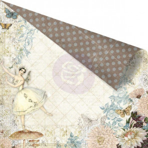 "Prima Marketing Fairy Belle Dobbeltsidet Cardstock 12x12"" -  En Pointe"
