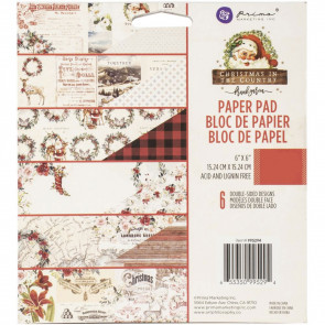 "Prima Marketing Double-Sided Paper Pad 6x6"" Christmas In The Country TASTER"