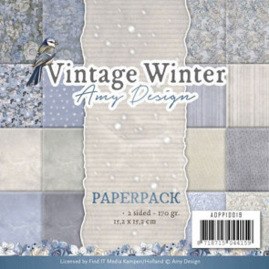 "Find It Vintage Winter Amy Design 6x6"" Paperpack TASTER"