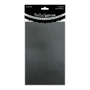 "Wedding RSVP Cards & Envelopes 3,5x5"" - Black (Perlemor)"