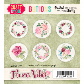Craft & You Buttons Flower Vibes