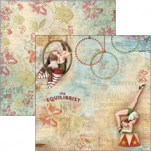 "Ciao Bella Double-Sided Cardstock 90lb 12x12"" The Greatest Show, The Equilibrist"